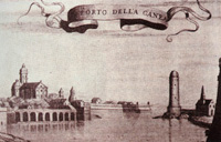 The old port in the Venetian era